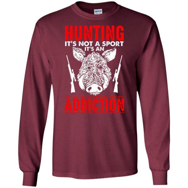 hog hunter shirts long sleeve - maroon
