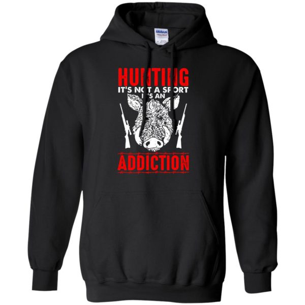 hog hunter shirts hoodie - black