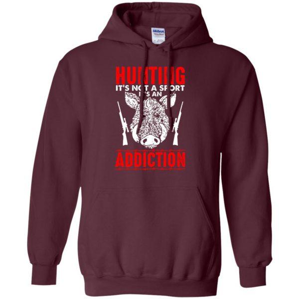 hog hunter shirts hoodie - maroon