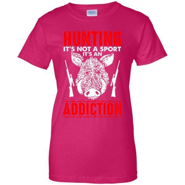 hog hunter shirts womens t shirt - lady t shirt - pink heliconia