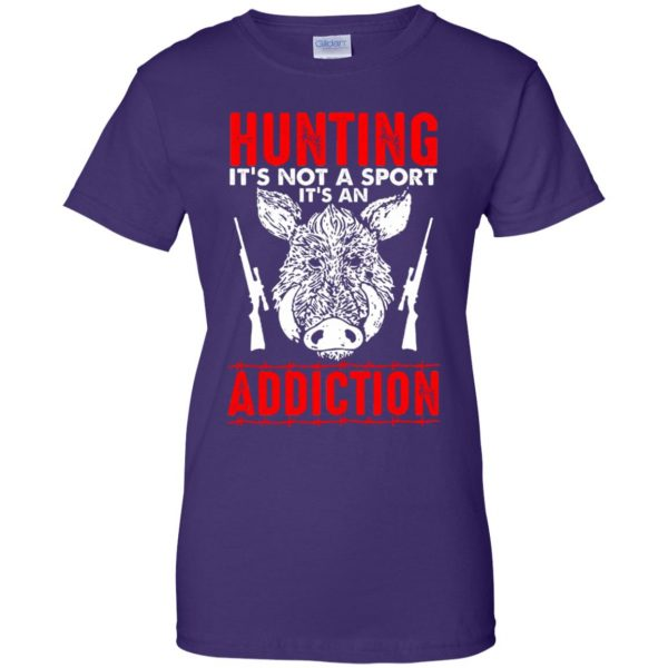 hog hunter shirts womens t shirt - lady t shirt - purple