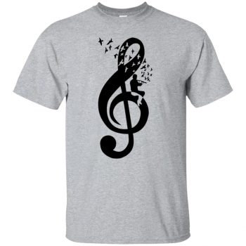 treble clef shirts - sport grey