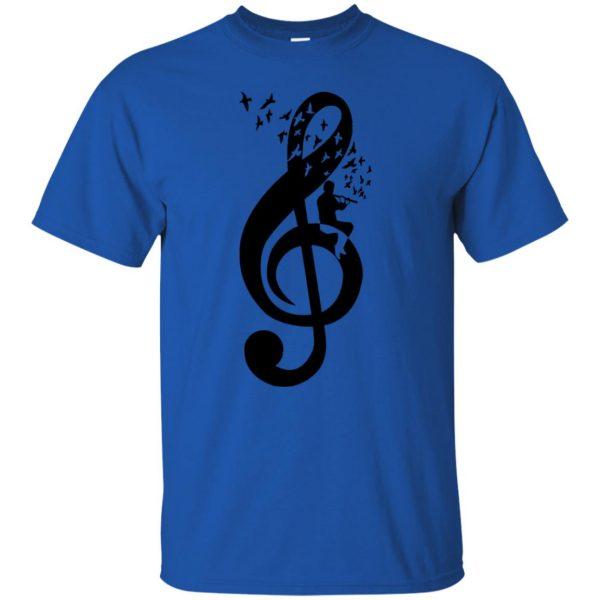 treble clefs t shirt - royal blue