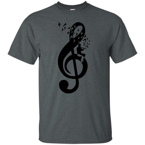 treble clefs t shirt - dark heather