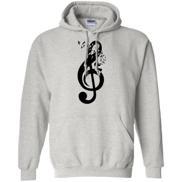 treble clefs hoodie - ash
