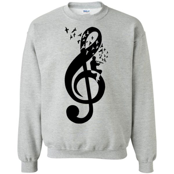 treble clefs sweatshirt - sport grey
