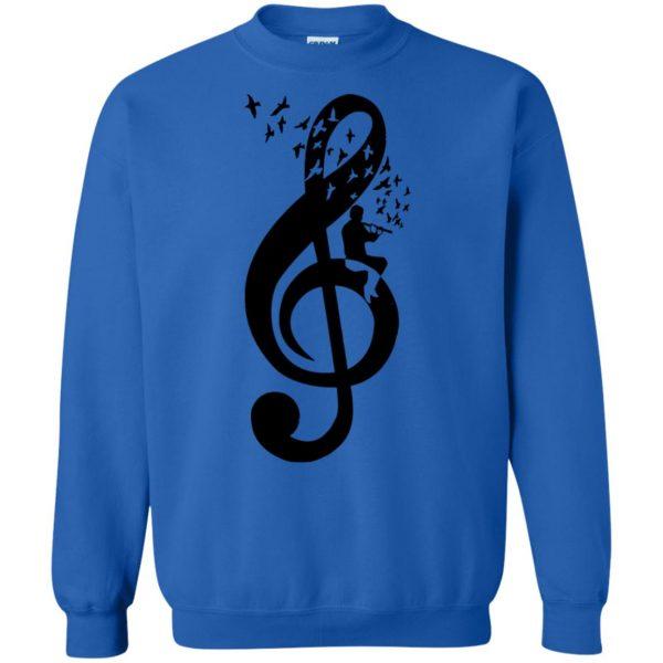 treble clefs sweatshirt - royal blue