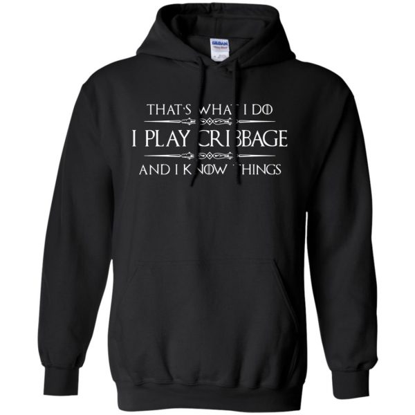 cribbage hoodie - black
