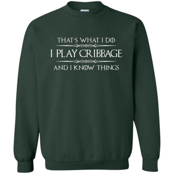 cribbage sweatshirt - forest green