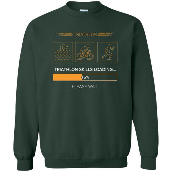 triathlon skills loading sweatshirt - forest green