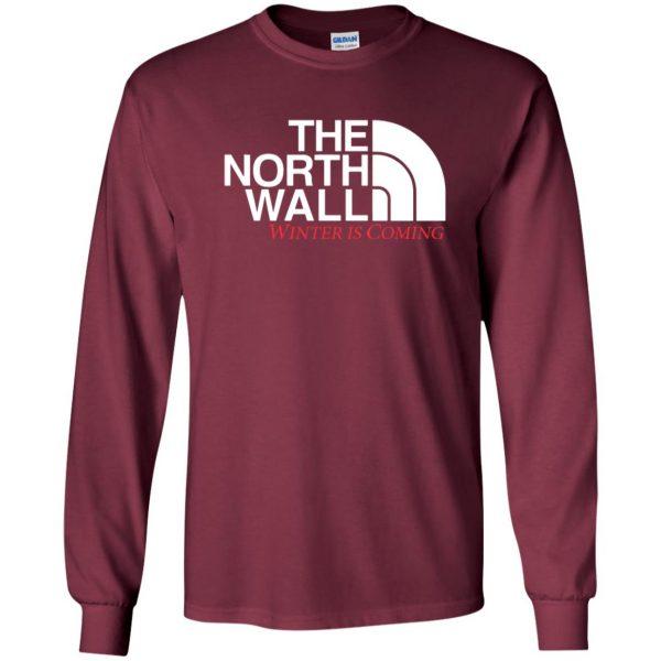 the north wall long sleeve - maroon