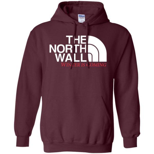 the north wall hoodie - maroon