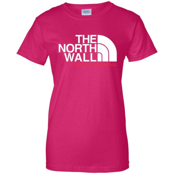 the north wall womens t shirt - lady t shirt - pink heliconia