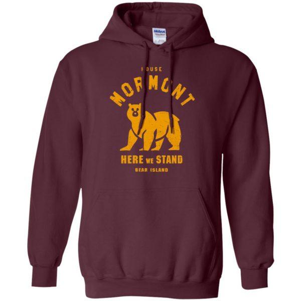house mormont hoodie - maroon