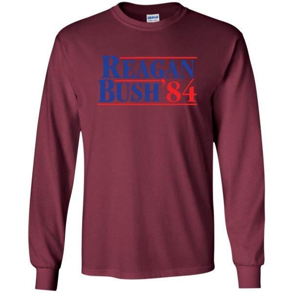 reagan bush 84 long sleeve - maroon