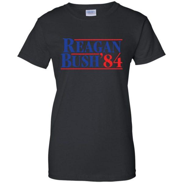 reagan bush 84 womens t shirt - lady t shirt - black