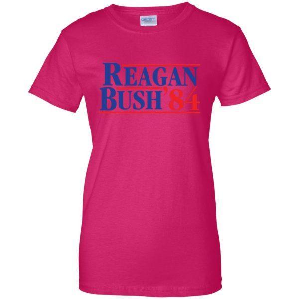 reagan bush 84 womens t shirt - lady t shirt - pink heliconia