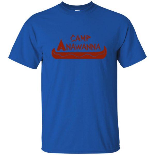 camp anawanna t shirt - royal blue