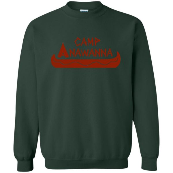 camp anawanna sweatshirt - forest green