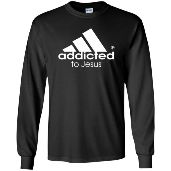 addicted to jesus long sleeve - black