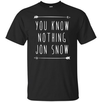 you know nothing jon snow tshirt - black