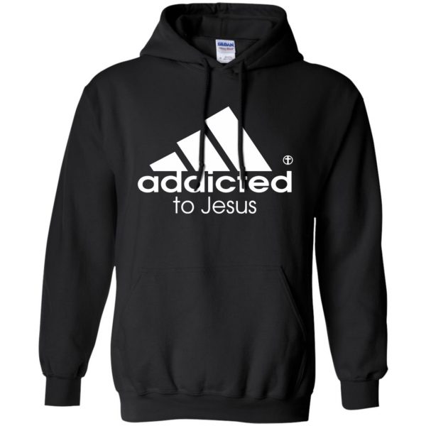 addicted to jesus hoodie - black