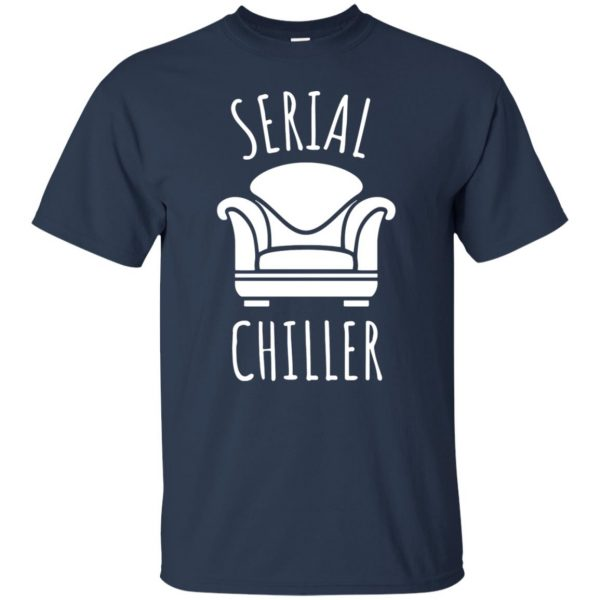 serial chiller t shirt - navy blue