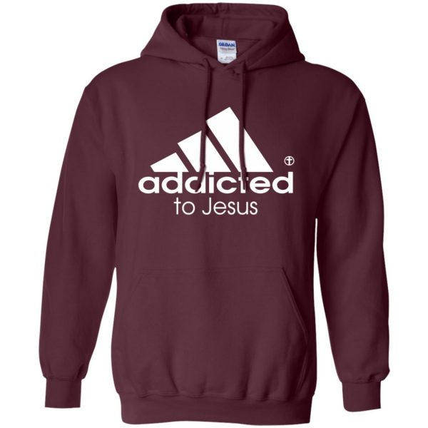 addicted to jesus hoodie - maroon