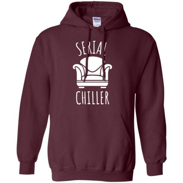 serial chiller hoodie - maroon
