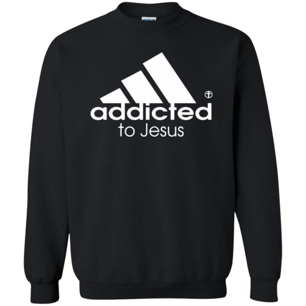 addicted to jesus sweatshirt - black