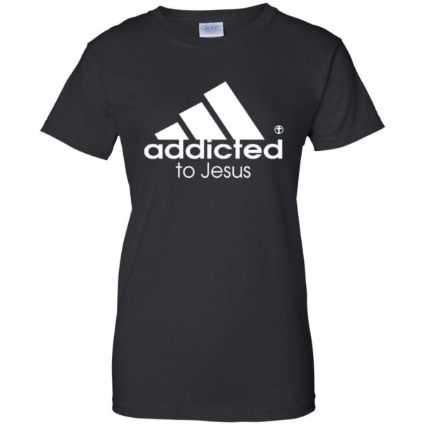 addicted to jesus womens t shirt - lady t shirt - black