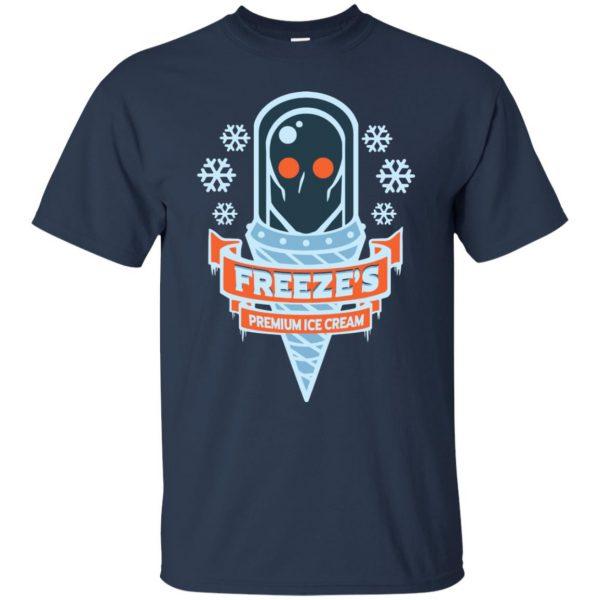 mr freeze t shirt - navy blue