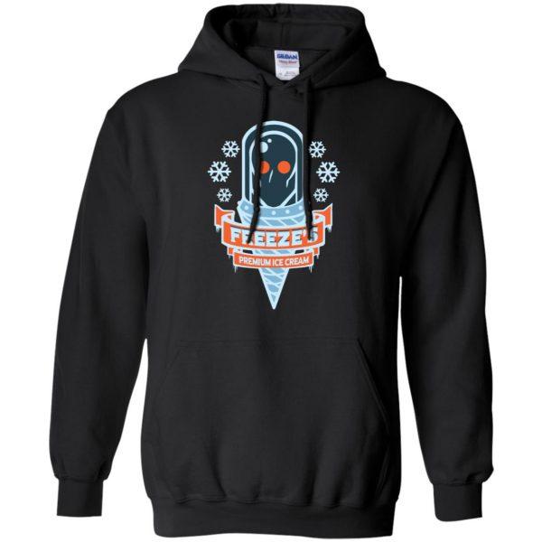 mr freeze hoodie - black