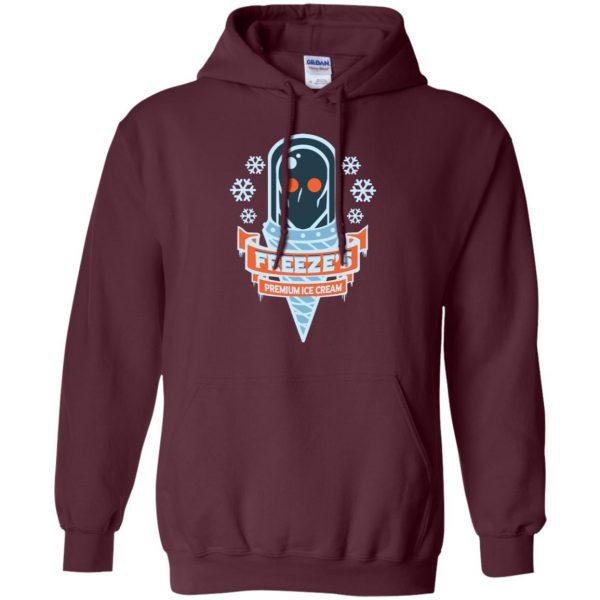 mr freeze hoodie - maroon