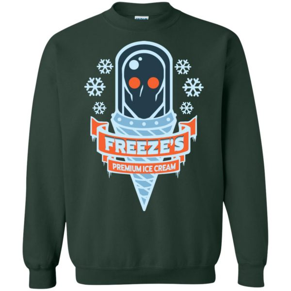 mr freeze sweatshirt - forest green