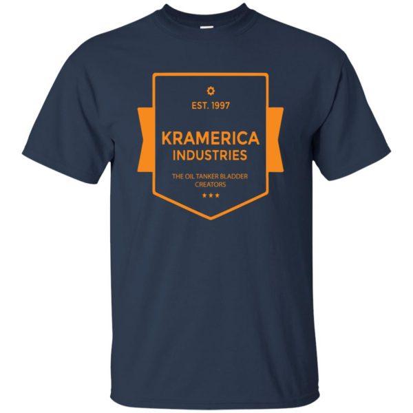 kramerica industries t shirt - navy blue
