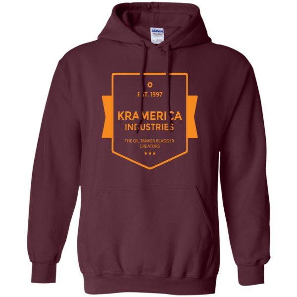 kramerica industries hoodie - maroon