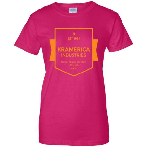 kramerica industries womens t shirt - lady t shirt - pink heliconia