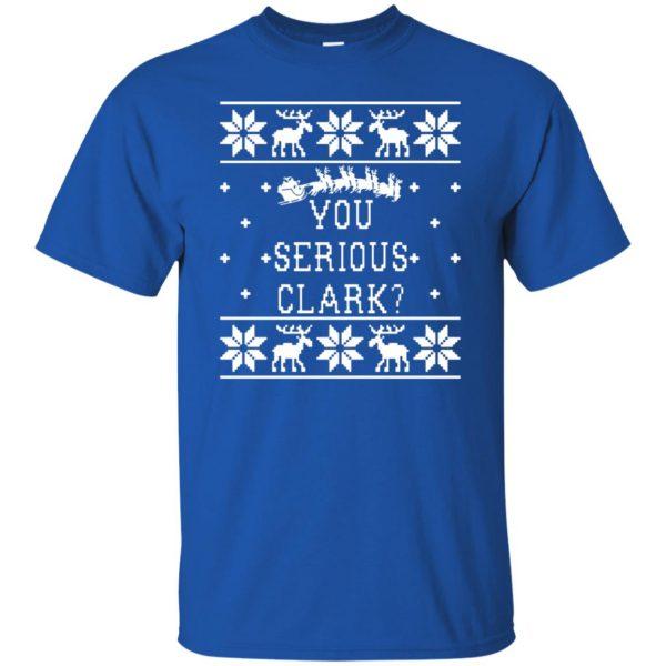 you serious clark t shirt - royal blue