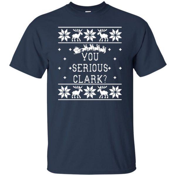 you serious clark t shirt - navy blue