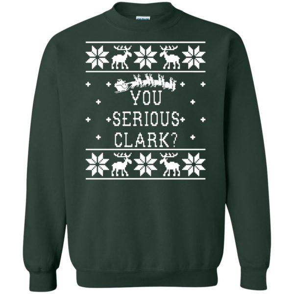 you serious clark sweatshirt - forest green