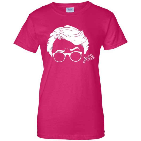 atticus finch womens t shirt - lady t shirt - pink heliconia