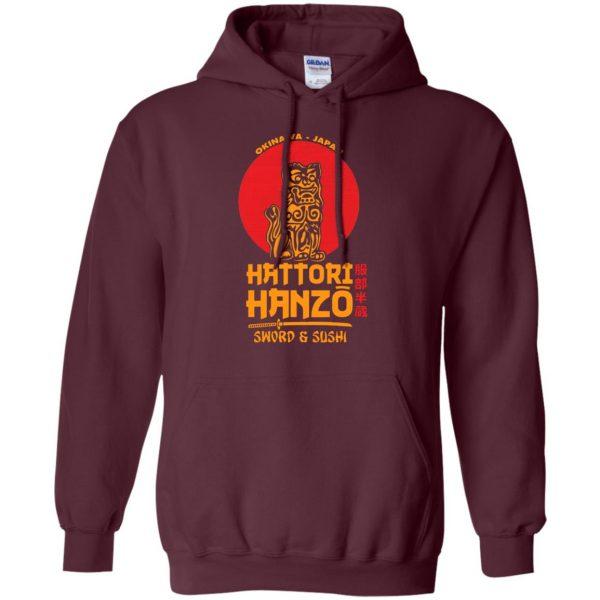 hattori hanzo hoodie - maroon