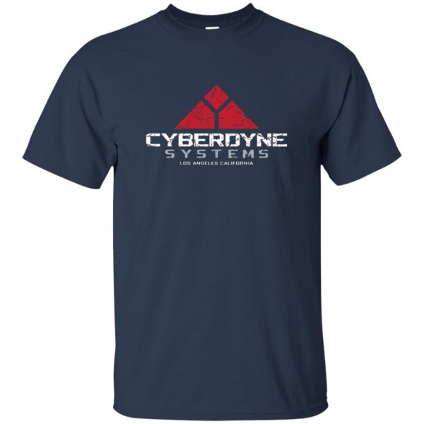 cyberdyne systems t shirt - navy blue