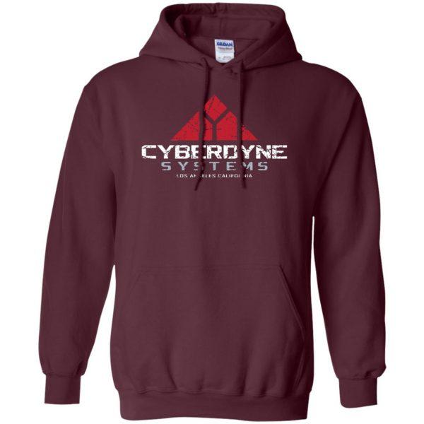 cyberdyne systems hoodie - maroon