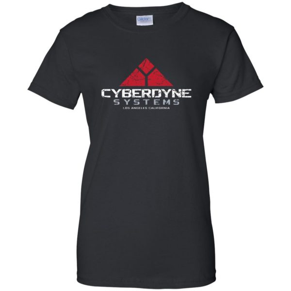 cyberdyne systems womens t shirt - lady t shirt - black