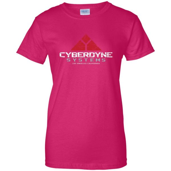 cyberdyne systems womens t shirt - lady t shirt - pink heliconia