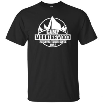 morning wood t shirt - black