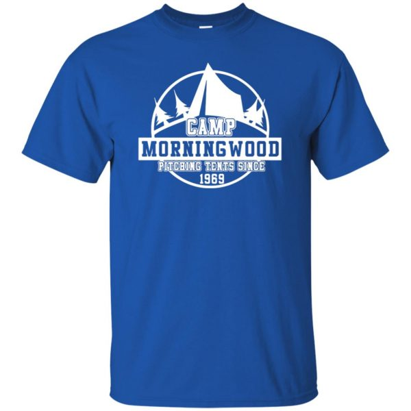 morning wood t shirt - royal blue