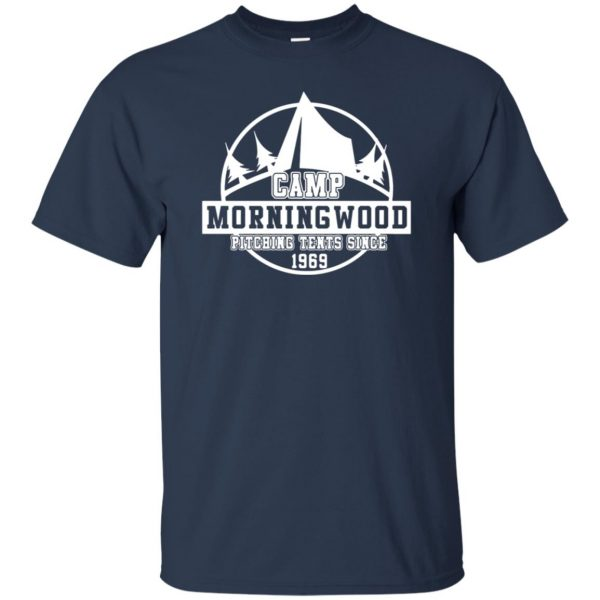morning wood t shirt - navy blue